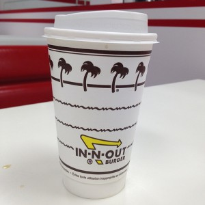 in-n-out burger spilled coffee