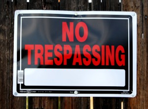 Can a No Trespassing Sign Keep the Cops Away?